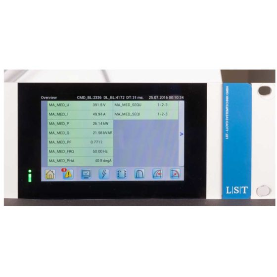 IREG Touch Display: Darstellung der elektrischen Größen